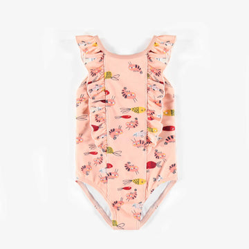 PINK ONE-PIECE SWIMSUIT, GIRL