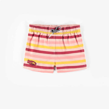 YELLOW AND PINK BATH SHORTS, GIRL
