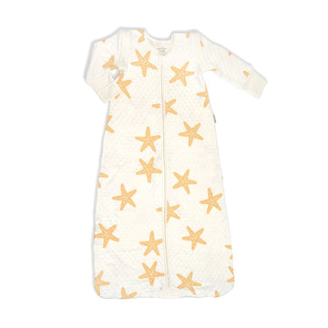 Bamboo Classic Sleeping Sack w/Detachable Sleeves (Starfish Print)