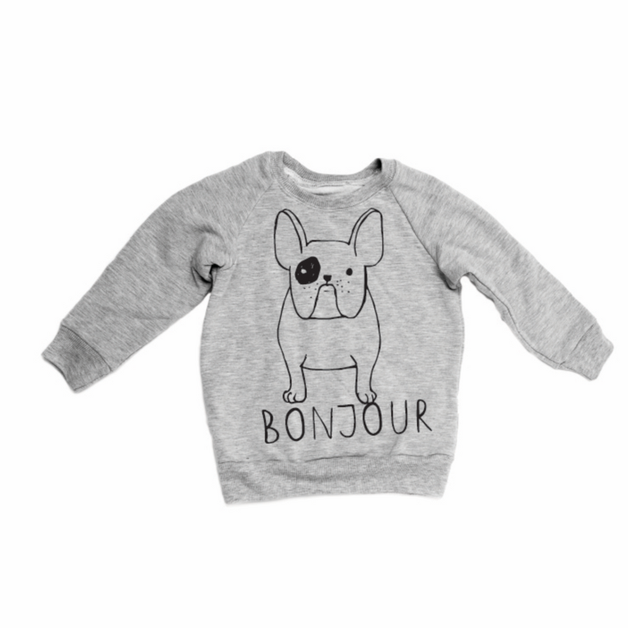 THE BONJOUR FRENCHIE SWEATSHIRT GREY