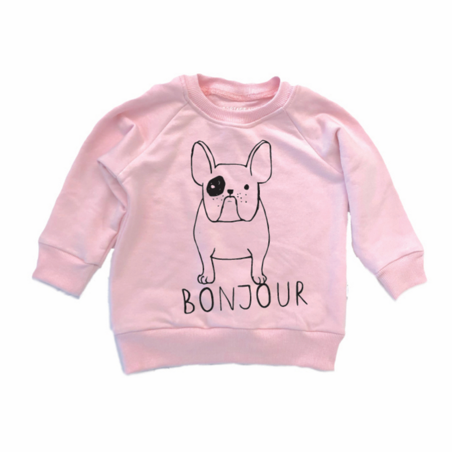THE BONJOUR FRENCHIE SWEATSHIRT PINK