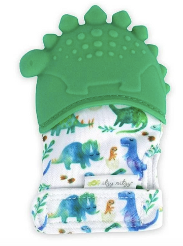 Itzy Mitt Teething Mitts | Dinosaur