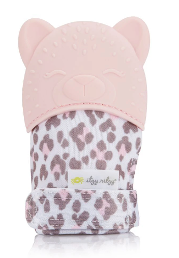 Itzy Mitt Teething Mitts | Leopard