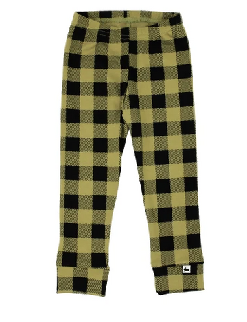 Bamboo/Cotton Leggings | Buffalo Plaid on Moss