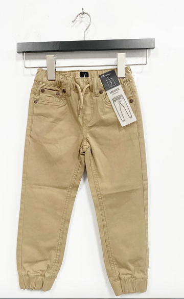 5 Pocket Brushed Twill Jogger - Beige