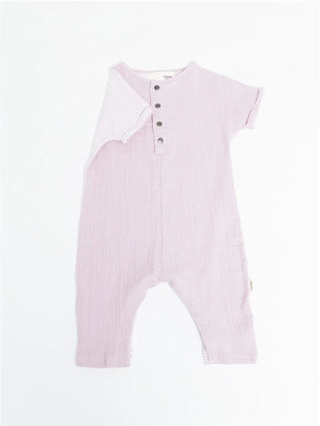 The Remix Romper - Pink Cloud Stripe Mix