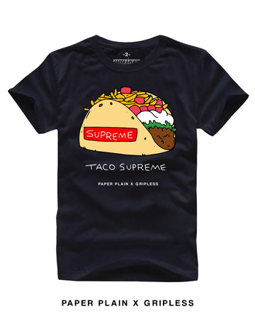 TACO SUPREME TEE BLACK (GRIPLESS COLLAB)