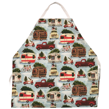 Vintage Christmas Campers Apron