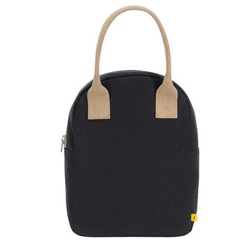 Black Zipper Lunch Bag