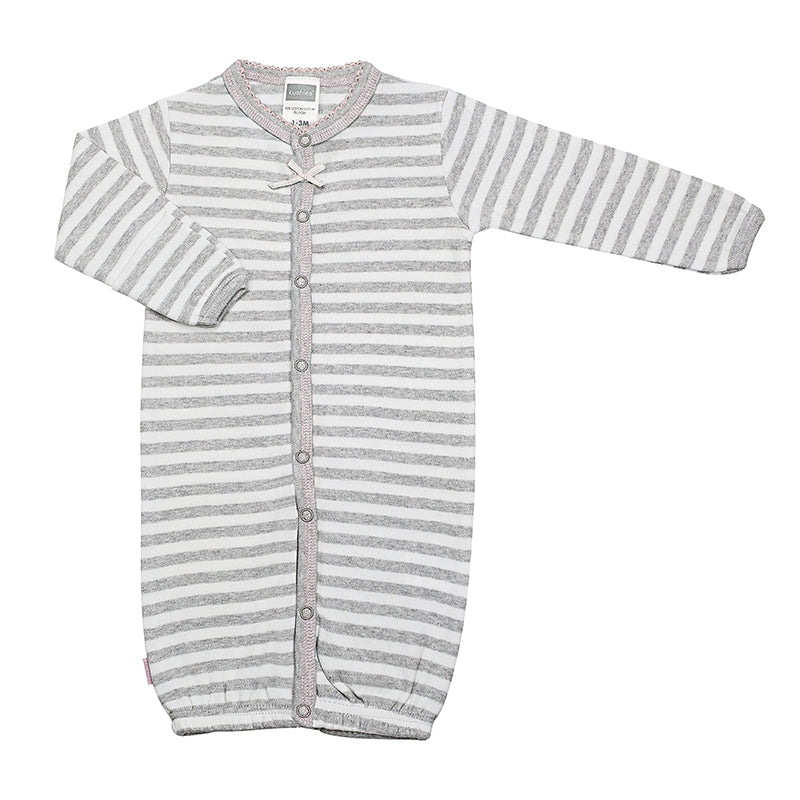 CONVERTIBLE GOWN - GREY STRIPE (GIRL)