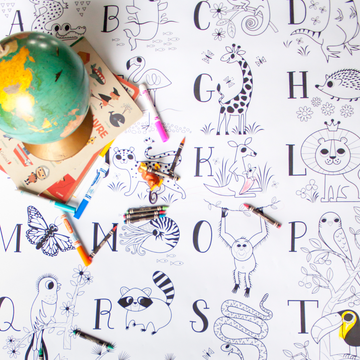 Alphabet - Giant coloring poster