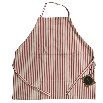 Coastal Heritage Red and White Striped Apron