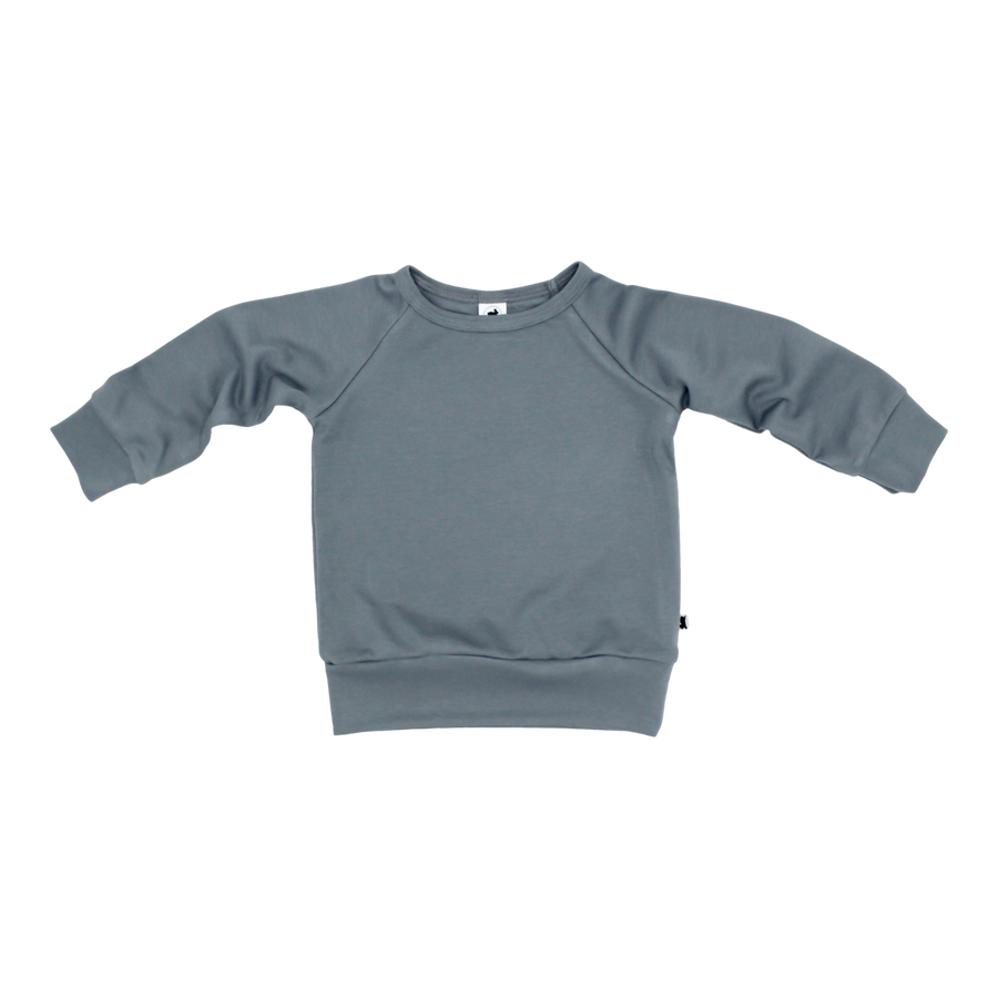 Bamboo/Cotton Pullover | Blue Slate