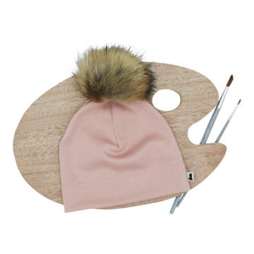 Beanie Removable Pom Rosewood