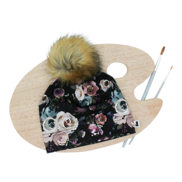 Beanie Removable Pom Watercolour