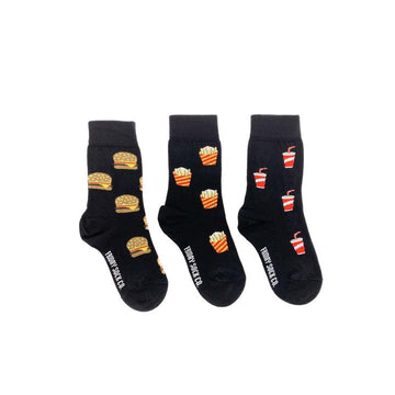 Burger Fries and Soda Kids Socks