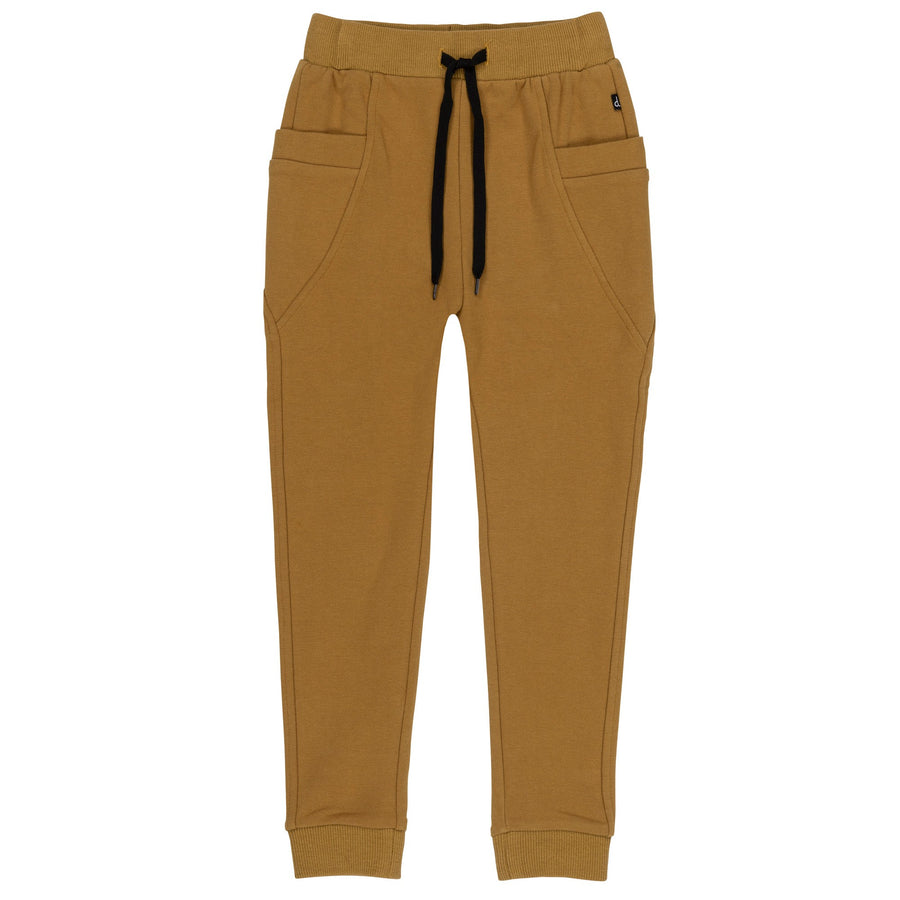BEIGE FRENCH TERRY JOGGER PANTS