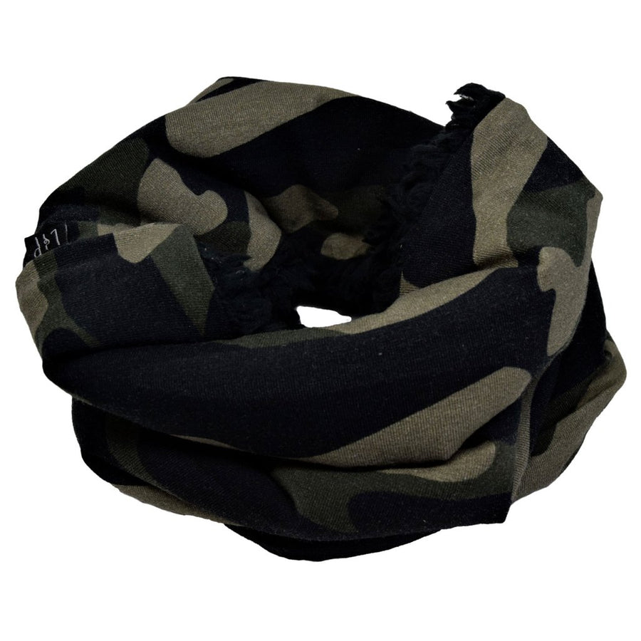 Lined cotton scarf (Camo)