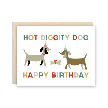 Hot Diggity Dog Birthday Card