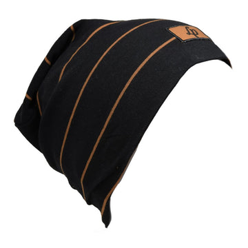 Boston cotton beanie (V20 Black & Caramel)
