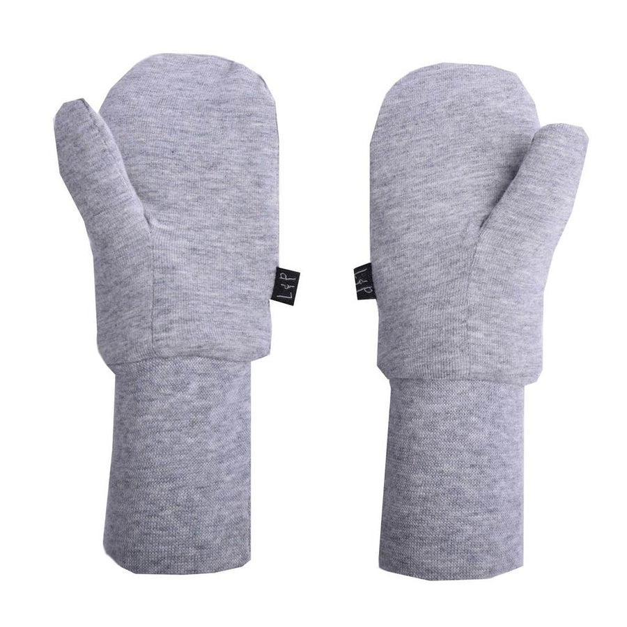Cotton mitts lined in Sherpa (Gray)