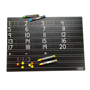 Numbers Practice Chalkboard Placemat