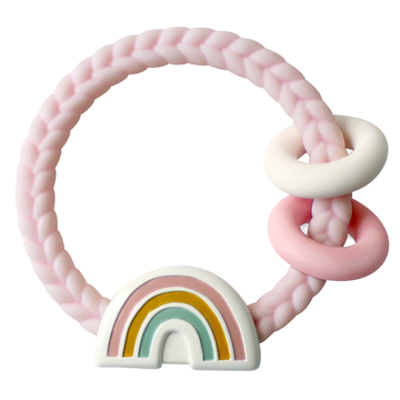 Ritzy Rattle Silicone Teether Rattle | Rainbow