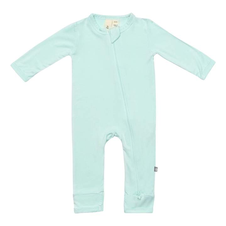 Zippered Romper in Sea Mist