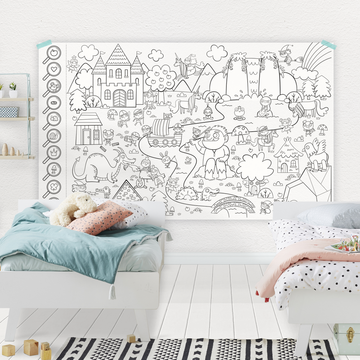 The enchanted forest - Giant coloring poster
