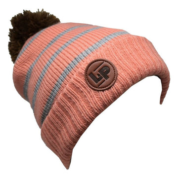Aspen Toque - Dusty pink and Grey