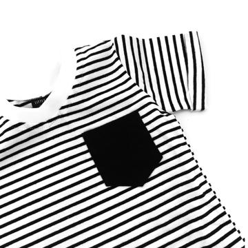 Black Stripe Swoop Tee