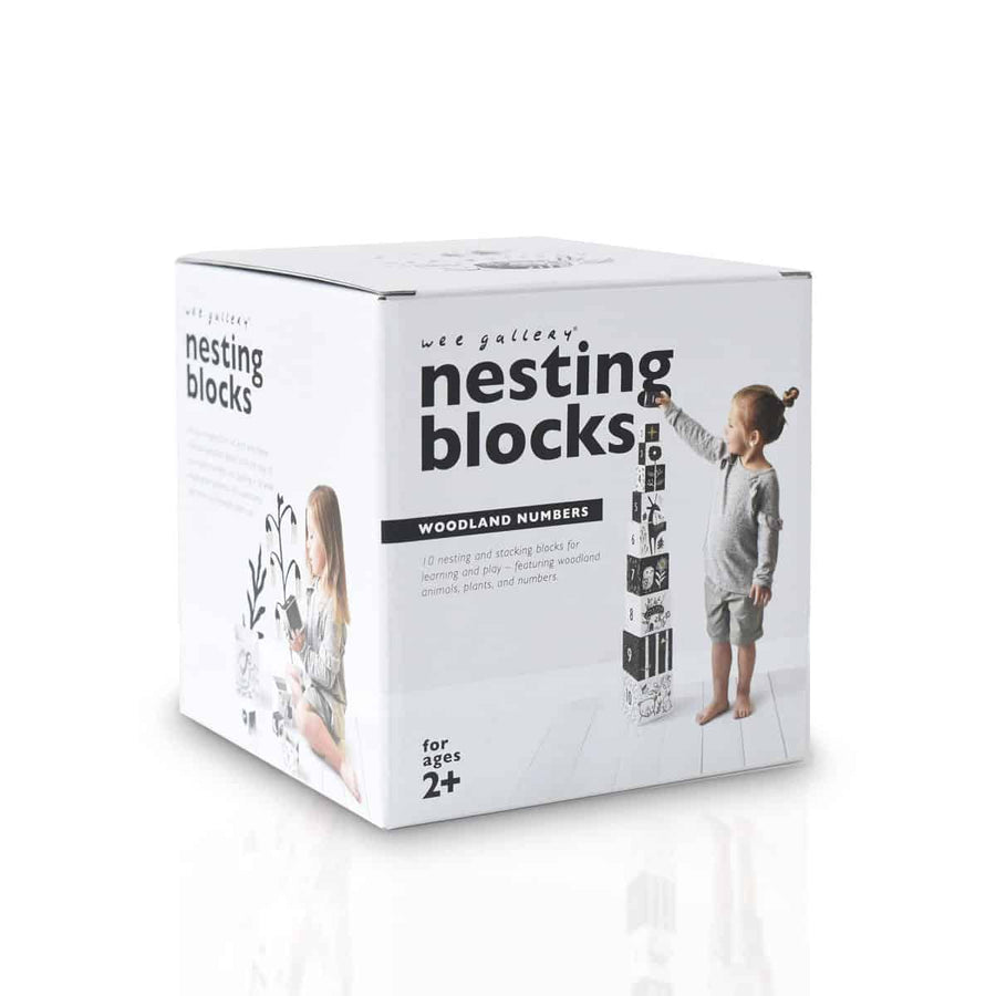 Nesting Blocks – Woodland Numbers