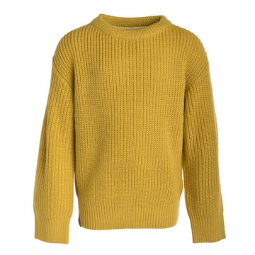 KNIT SWEATER (MALLOW) - Imperial Yellow