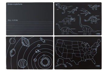 Chalkboard Learning Placemat Set of 4