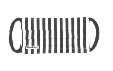 Kids Face Mask - Navy and White Stripes