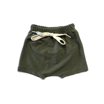 THE OLIVE HAREM SHORTS