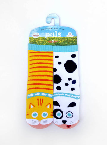 Cat & Dog Kids Collectible Mismatched Animal Socks