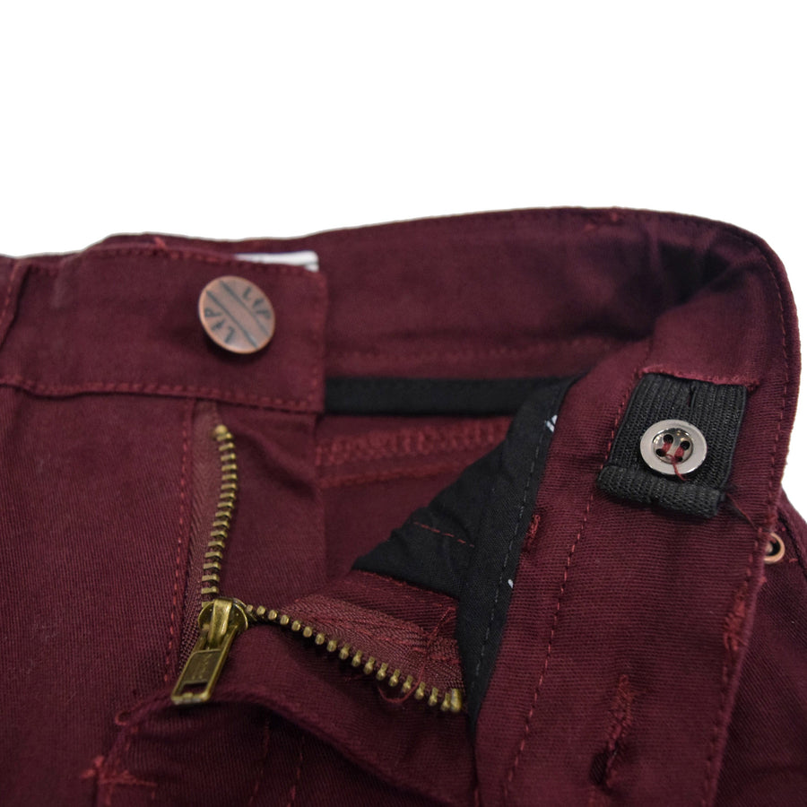 Skinny cut pants (Burgundy)
