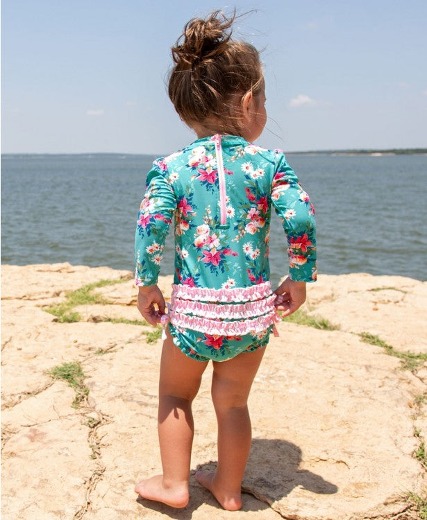 Fancy Me Floral One Piece Rash Guard