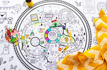 Le sentier des animaux- Giant coloring poster + Game Board (French version only)