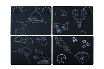 Transportation Travel Placemat - Set of 4
