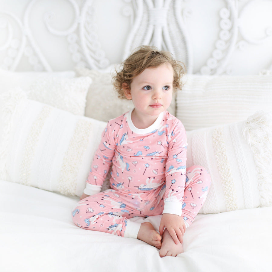 Unicorn Two-Piece Toddler/Kids Bamboo Viscose Pajama Set