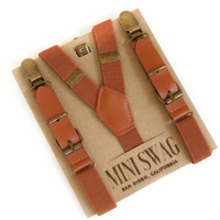 Camel Leather Suspenders