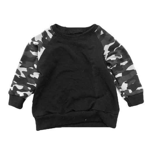 The Black Camo Raglan