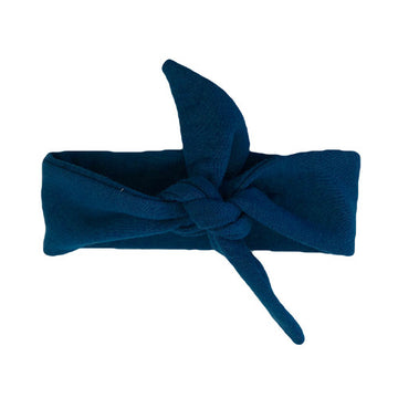 The Navy Top Knot Head Band