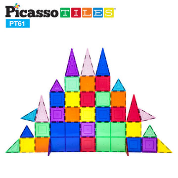 PicassoTiles® 61 Piece Set PT61 Magnet Tiles