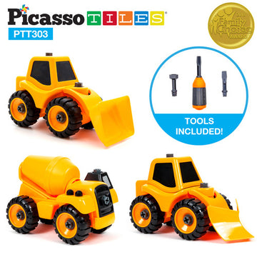 PicassoTiles PTT303 3-in-1 Constructible DIY Toy