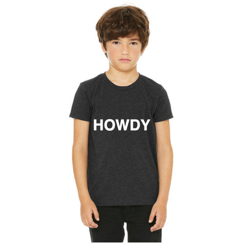 The Howdy Tee Charcoal