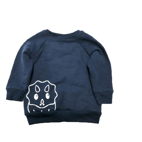 CAN'T. HAVE TO WALK MY DINOSAUR. SWEATSHIRT NAVY