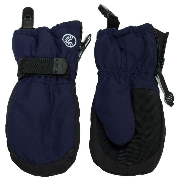 Mittens with Clips - Navy
